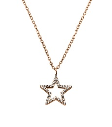 Nova cz Necklace - Rose Gold
