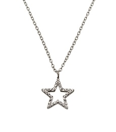 Nova cz Necklace - Steel
