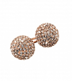 Snowball Studs - Rose Gold