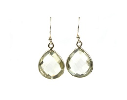 Raindrop Earrings - Green Amethyst