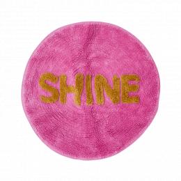 Rund matta i rosa