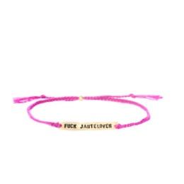 "Armband ""Fuck Jantelagen"" - rosa"