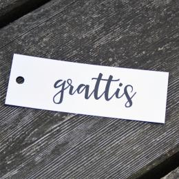Grattis - Tags