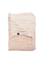 Hannelin pläd - Deep blush/white