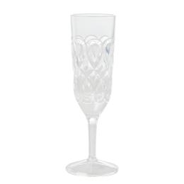 Swirly Champagneglas Akryl  - Clear