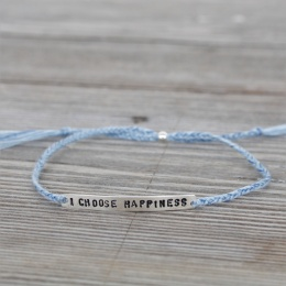 I choose happiness - Silver/Blue