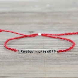 I choose happiness - Silver/Red