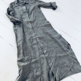 Joan Långklänning - Jeansblå
