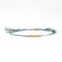 """Armband """"Karma"""" - blå/grå"""