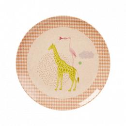 Tallrik giraff - Rosa
