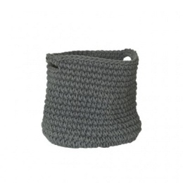 Rope Basket With Handles - Grey
