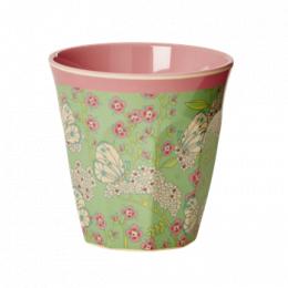 Medium Mugg - Fjärilar & Blommor