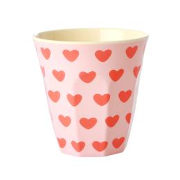 Medium Mugg - Rosa Hjärtan