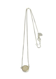 Frances Druzy Necklace - Silver Moon