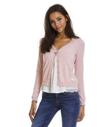 Classic V-Neck Cardigan - Milky Pink