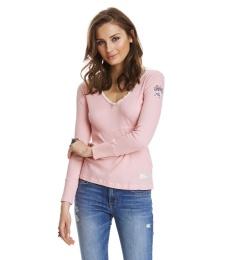 Rib Jersey l/s Top - Milky Pink