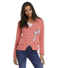 Lovely Knit Jacket - Bright Red