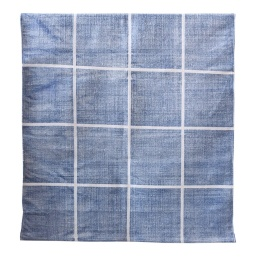 Square Cotton Rug 80x200 - Blue