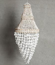 Lampskärm med snäckskal 26x60