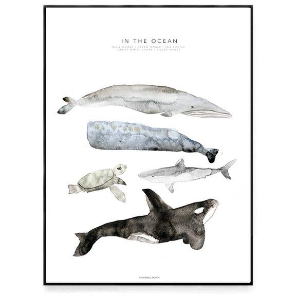 In The Ocean - 21x30 cm