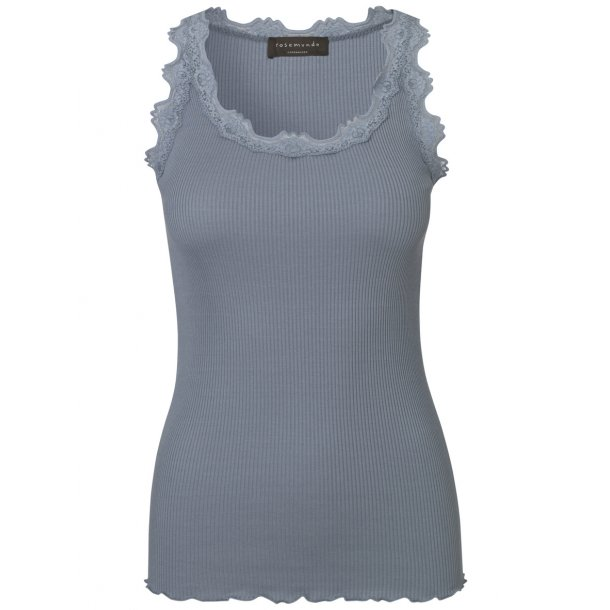 Silk Top With Vintage Lace - Tradewinds
