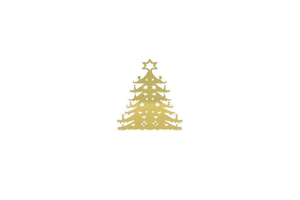 Christmas Tree 120mm - Brass