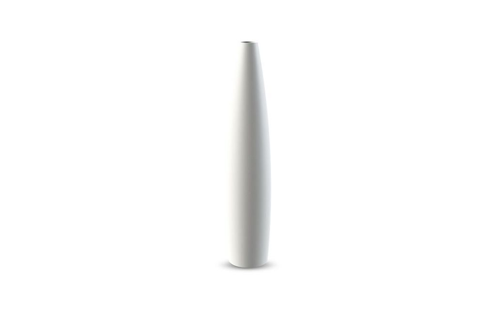 Candlestick Tube, 33 cm - White