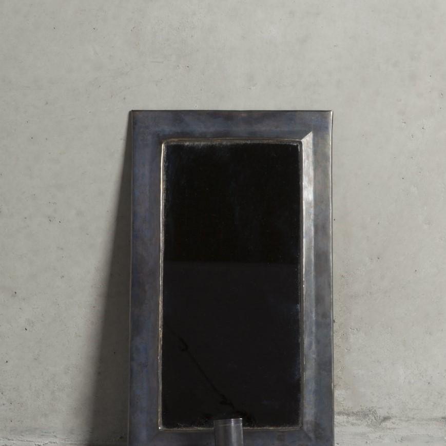 Lampett med spegel - Oxiderad mässing