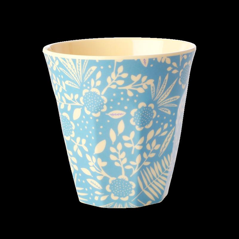Medium Mugg - Blå Ormbunke