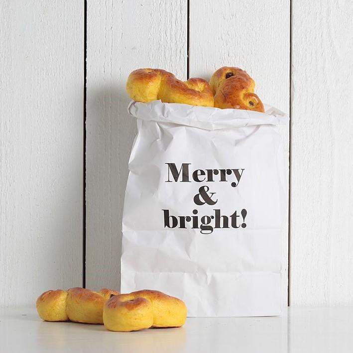Qlkort Påse - Merry & Bright