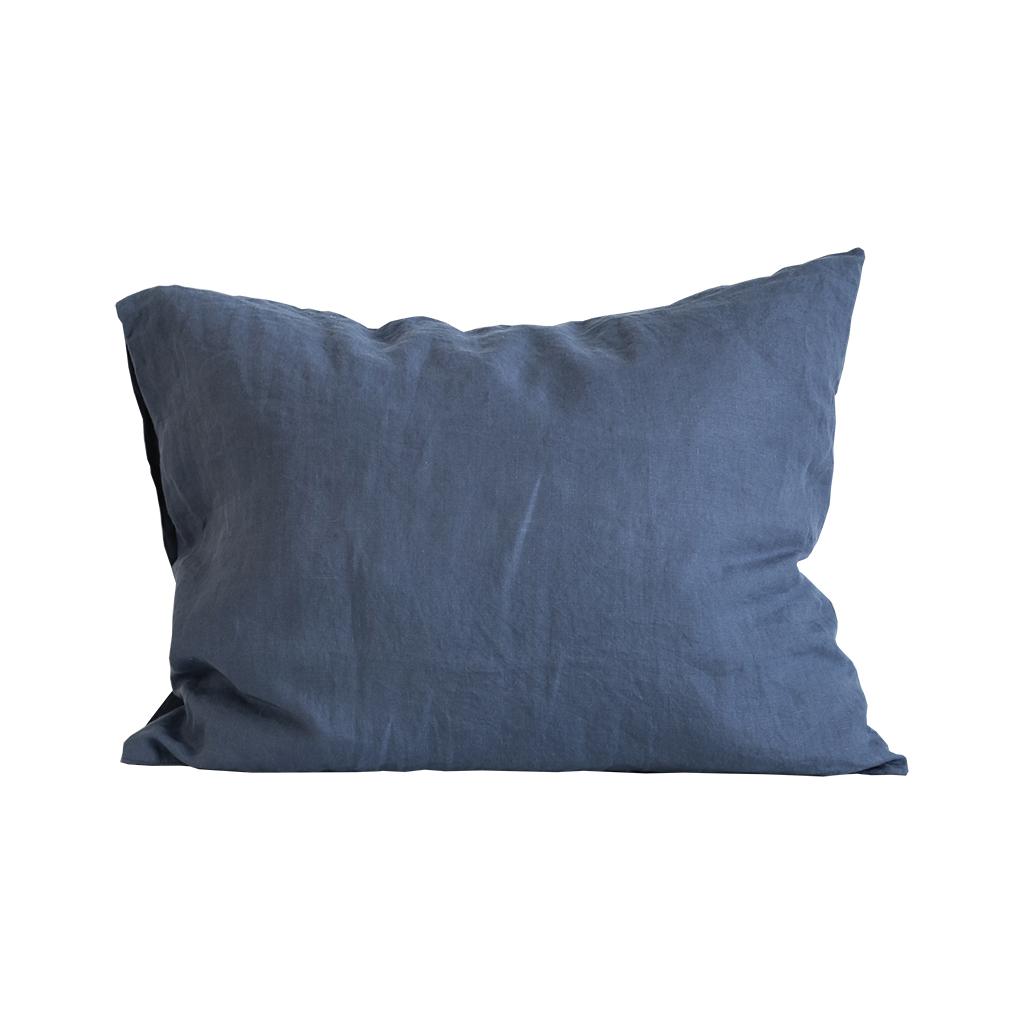 Pillowcase linen 50x60 2p - Navy blue