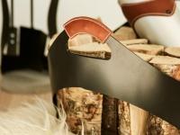 Rais Carry Vedkorg Svart Med Läderhandtag