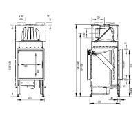 Inbyggnadsspis Morsö S121-21 Dubbelglas och Dörröppningslucka