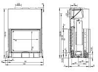 Inbyggnadsspis Morsö S122-22 Med Dubbelglas och Hisslucka