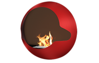Cupola Vauni Black Mantle Red Ember