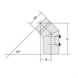 Oisolerad rörböj 45 grader / 150 Dimension Grå