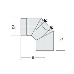 Oisolerad rörböj 90 grader / 150 Dimension Grå