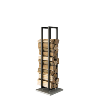 Rais Woodwall Freestanding 130 cm  Svart