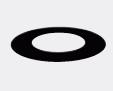 Schiedel Täckplåt rund för innertak 0 grader