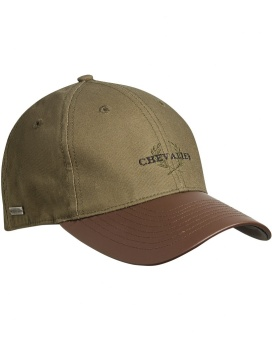 Chevalier Cotton Cap Faux Leather Brim