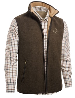 Chevalier Mainstone Fleece Waistcoat Brown