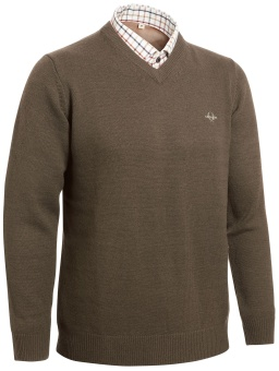 Chevalier Gary Woolpullover w Patch Brown