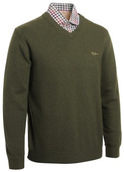 Chevalier Gary Woolpullover w Patch Green