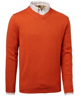 Chevalier Gary Wool Pullover W.Patch Orange