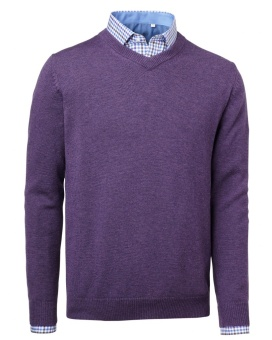 Chevalier Gary Wool Pullover W.Patch Purple