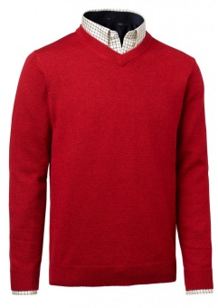 Chevalier Gary Wool Pullover W. Patch Red
