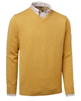 Chevalier Gary Wool Pullover W. Patch Yellow