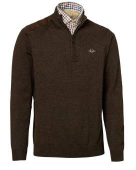Chevalier Gilbert Cotton Pullover Brown
