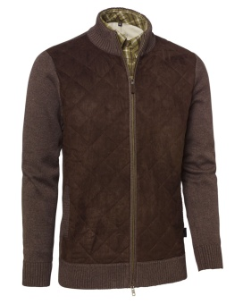 Chevalier Graham Quilt Cardigan Brown