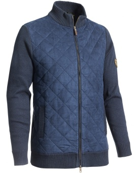Chevalier Graham Quilt Cardigan Navy